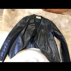 BB Dakota Black Leather Blazer